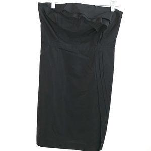 LOFT Strapless Ruffle Detail Dress